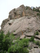 Rock Climbing Photo: Cliff with no climbs yet Front Range, CO.