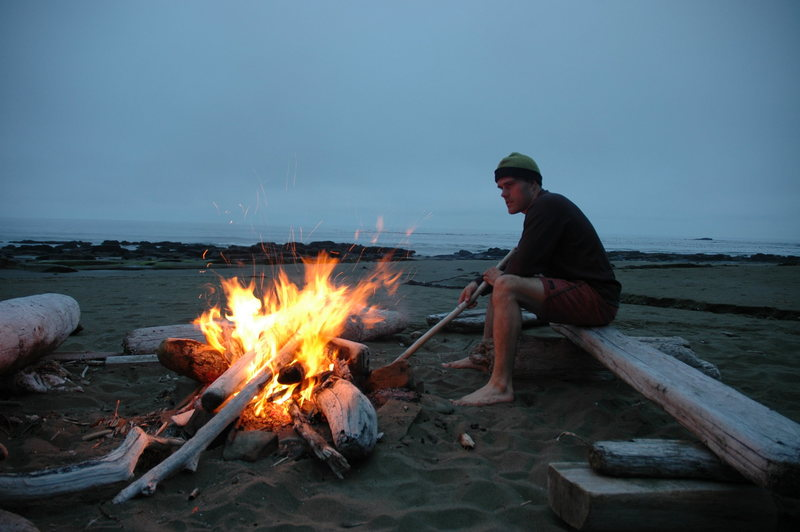 Great fire at a great campsite on the West Coast Trail.