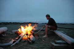 Rock Climbing Photo: Great fire at a great campsite on the West Coast T...