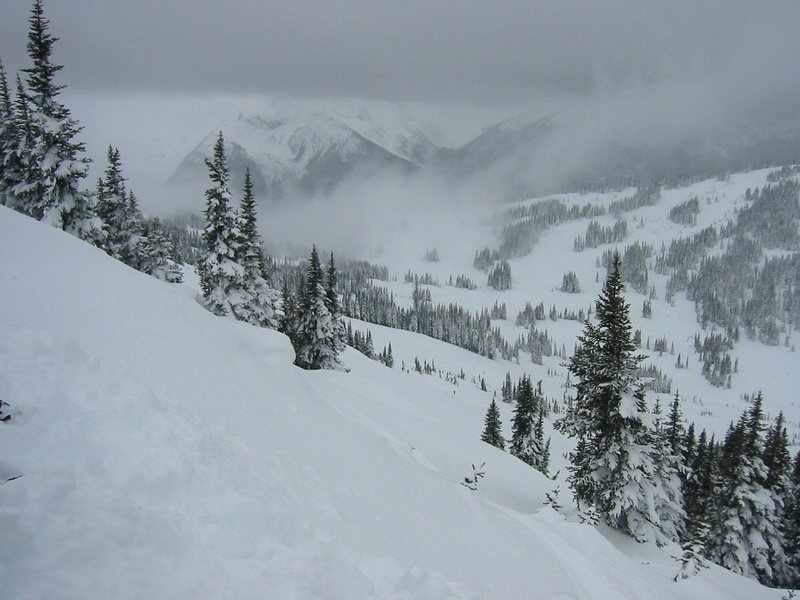 Rock Climbing Photo: Looking down Cowboy Ridge in the Whistler Backcoun...