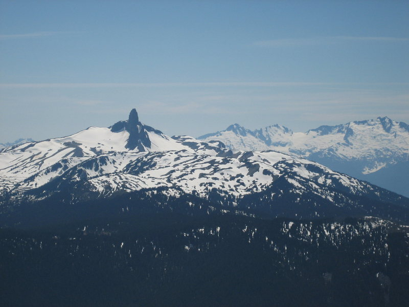Rock Climbing Photo: The Black Tusk from Whistler peak in the spring.  ...
