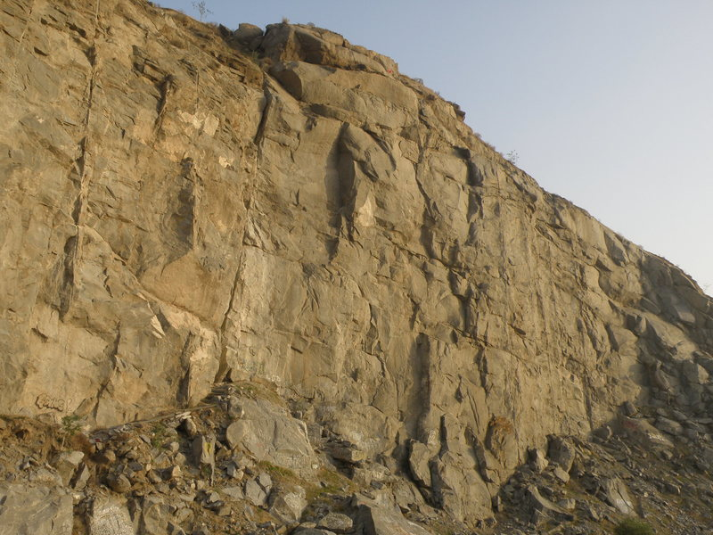 Rock Climbing Photo: Taboo is the left facing corner that casts the sha...
