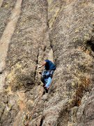 Rock Climbing Photo: Shannon Twomey sinking into the first pitch of &qu...