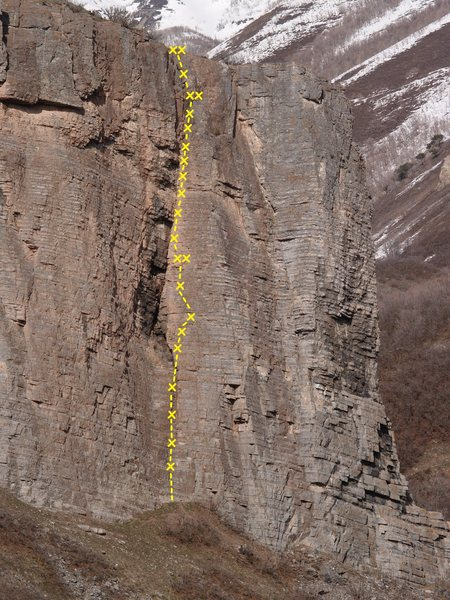 Rock Climbing Photo: Hitchhikers Guide to the Galaxy 5.11b