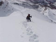 Rock Climbing Photo: Ascending Everest Ridge.