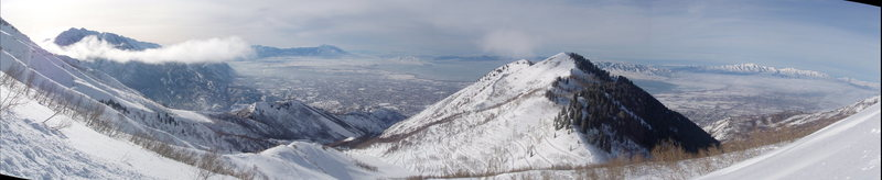 View of Utah Valley from Everest Ridge.