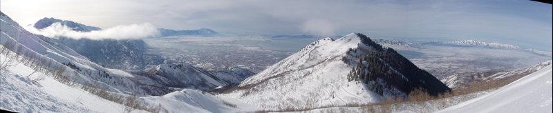Rock Climbing Photo: View of Utah Valley from Everest Ridge.