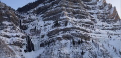Rock Climbing Photo: (12-17-09) Bridal Veil area ice climbs.  (White Ni...