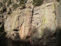 Rock Climbing Photo: River Wall, Buttonrock. Photo: Bob Horan Collectio...