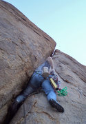 Rock Climbing Photo: Getting the initial grunt going.  Susan photo.