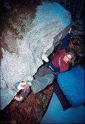 Rock Climbing Photo: Nate on American Trixter  Photo: Kurt Werby
