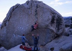 Rock Climbing Photo: Match the right hand and one more move up and righ...