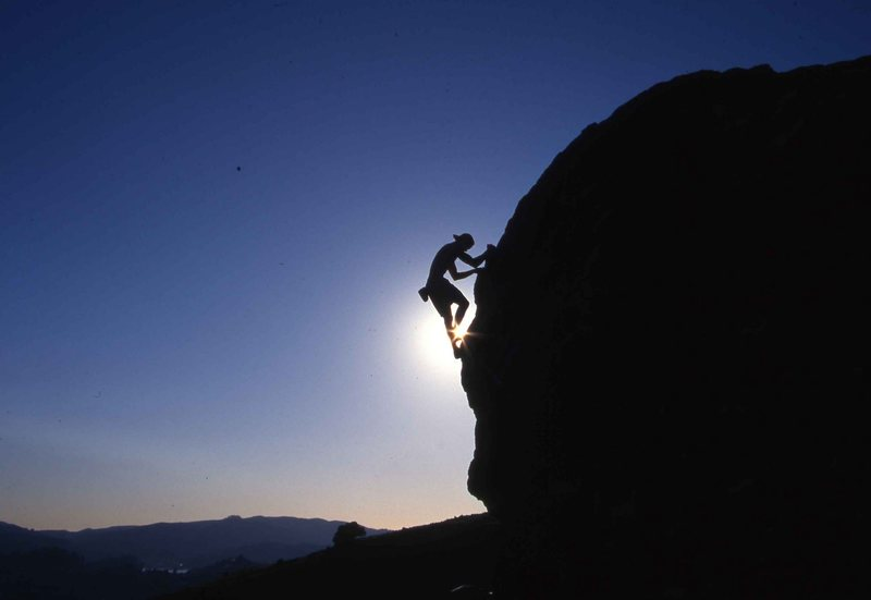 Rock Climbing Photo: Sunset bouldering at Turtle Rock, photo by Shems J...