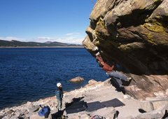 Rock Climbing Photo: Eric Cutler on The Kahuna Roof.