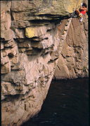 Rock Climbing Photo: Bob Horan sends Big, Big Gunky Man.