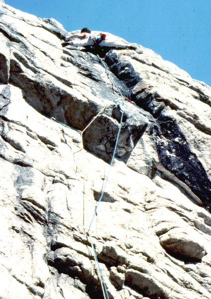 Bob Horan on 1st ascent of Blitzkreig.