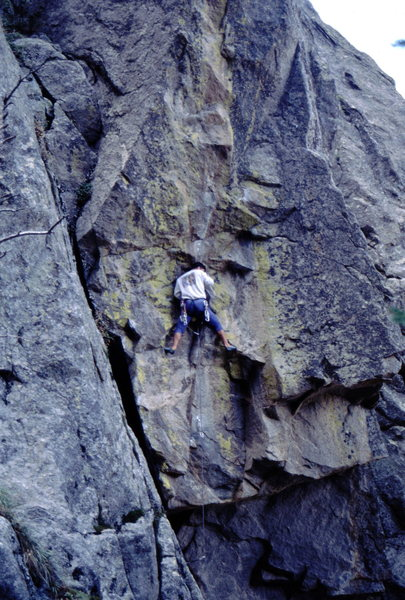 Bob Horan on the 1st ascent of Dracula.