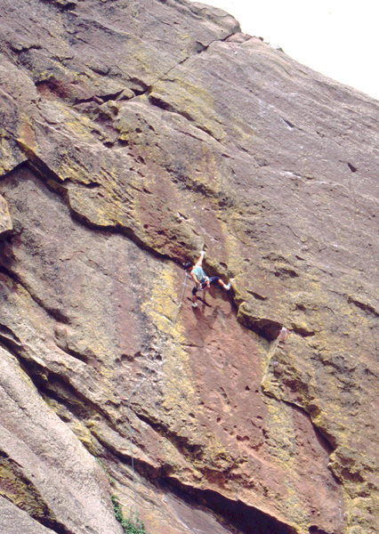 Rock Climbing Photo: Bob Horan on the west face of the Fourth Flatiron.