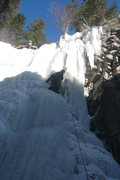 Rock Climbing Photo: Trying to lead the right side, that line where the...