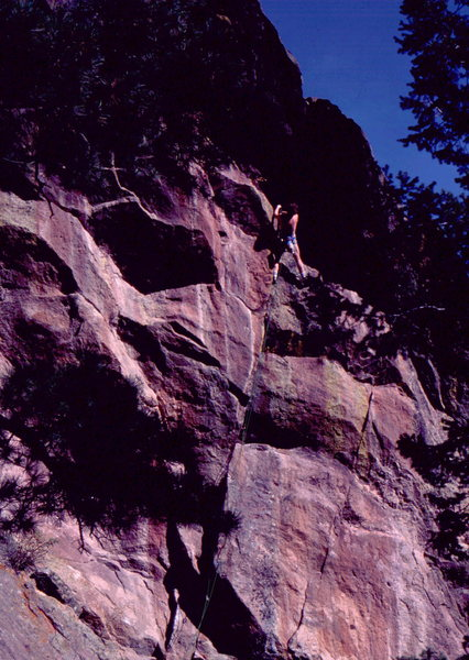 Rock Climbing Photo: Jerry Moffat on Grande Parade. Photo: Bob Horan Co...