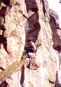 Rock Climbing Photo: Bob Horan leading the Enemy of the People.