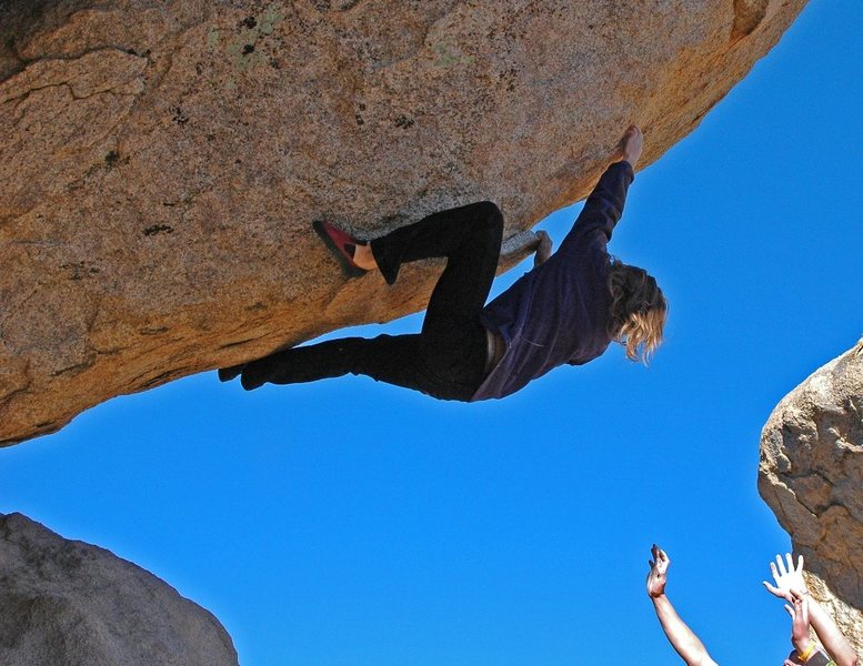 Rock Climbing Photo: Jeremy Freeman bustin' it on a steep, unnamed prob...