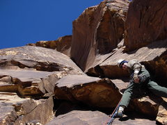 Rock Climbing Photo: Maurice Horn starting the second pitch, Joanne of ...