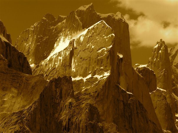 The Great Trango and Nameless Towers (6242 meters/20,600 feet), Baltoro Glacier