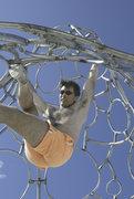 Rock Climbing Photo: Inside step-through, monkey-bar style.