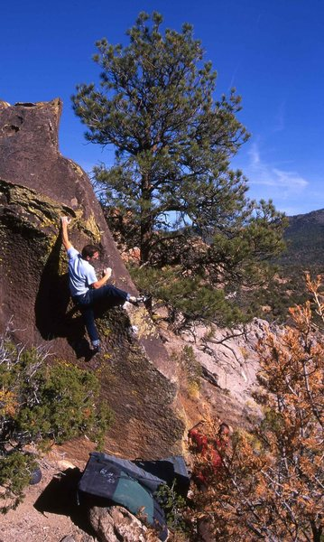 Rock Climbing Photo: This is a problem that I put up with Lance that I ...