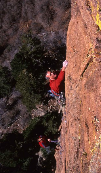 Rock Climbing Photo: Bryan Pletta on-sighting the second ascent of the ...