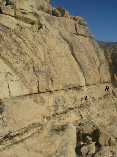 Rock Climbing Photo: Palm-U-Granite (L) and Hang Ten (R)