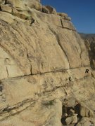 Rock Climbing Photo: Palm-U-Granite (L) and Hang Ten (R)