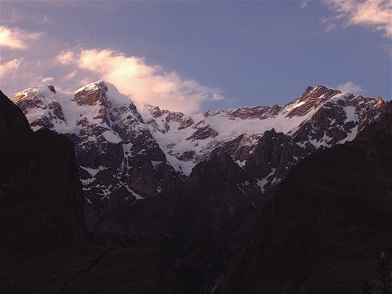 Rock Climbing Photo: Ultar Group as seen from Karimabad in Hunza