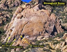 Rock Climbing Photo: Here is a marked up Susan pic with the route locat...