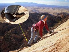 Rock Climbing Photo: Cruxy summit slab.