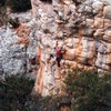 One very cool 5.10 called Chinese Algebra. Mt Arapiles Australia.