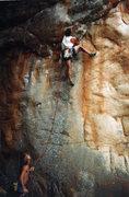 Rock Climbing Photo: 5.11 onsight White Heat Mt.Arapiles Australia.