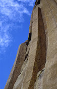 Rock Climbing Photo: Waylaid. 5.11 onsight Devil's Tower Wyoming.