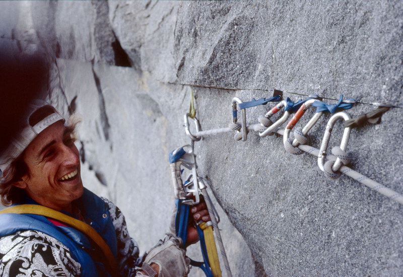 Dale Bard at 5 rurp belay.