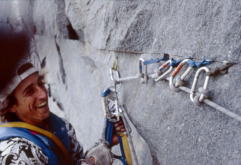 Rock Climbing Photo: Dale Bard at 5 rurp belay.