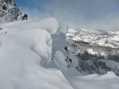 Rock Climbing Photo: High Avi day at Castle Peak off Donner summit Ca. ...