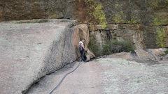 Rock Climbing Photo: On rappel!  Veadauwoo!