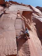 Rock Climbing Photo: A great route with three distinct sections.
