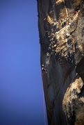Rock Climbing Photo: Nearing the end of the headwall, with Long ledge v...