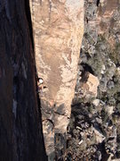 Rock Climbing Photo: Belching girl on Varnishing Point