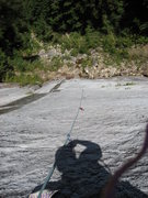 Rock Climbing Photo: I had to man up and lead this 6c+ slab. Very menta...