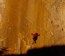 Rock Climbing Photo: Peter Croft starting Figures. Photo by Bob Gaines.
