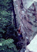 Rock Climbing Photo: Bob Horan following in Gill's footstep on Sometime...