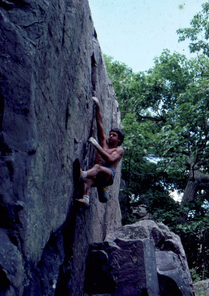 Rock Climbing Photo: BH on the Monster, circa late 1970s.